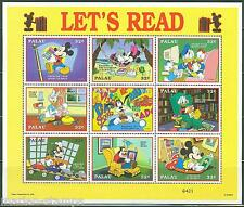 Palau Disney Scott#447 Let'S Read Sheet Mint Nh
