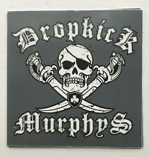 Dropkick Murphys - Jolly Roger Pirate Gray Sticker Vinyl 4.2 x 4.25  - BRAND NEW