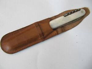 """Altes Taschenmesser """"Böhler Stahl"""",zwei Klingen + Korkenzieher, Perlmuttgriff(3)"""