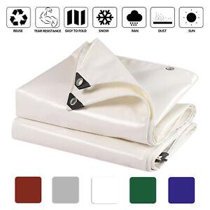 PVC Vinyl Tarp Waterproof UV Canopy Tarpaulin Boat Cover 7-8 Years Service Life