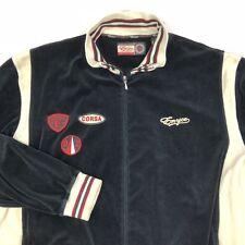 Enyce Urban Wear Mens 3XL XXXL Velour Track Jacket Black Red Lightweight Patches