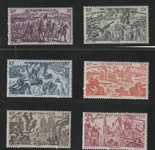 FRENCH EQUATORIAL AFRICA - FRENCH COLONIAL - SET OF 6 OLD STAMPS MH ( AEF 645 )