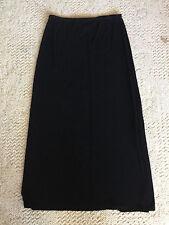 Carole Little Black Slinky Long  Knit Skirt  Acetate & Spandex Blend   Sze 10
