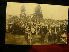 Small town race track postcard union jack vintage banquet photography ??#1475