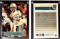 Jay Fiedler Signed 2002 Upper Deck #89 Card Miami Dolphins Auto Autograph