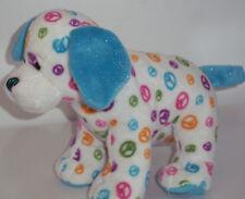 Webkinz Ganz Peace Sign Puppy Dog Plush Stuffed Animal Soft Toy  NO CODE