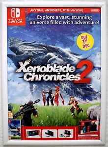 Xenoblade Chronicles 2 RARE Nintendo Switch 42cm x 59cm Promotional Poster
