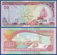 MALEDIVEN / MALDIVES 20 Rufiyaa  2008 UNC P.20 b