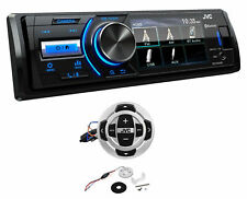 JVC KD-X560BT Digital Media Marine Bluetooth Receiver W/ USB/AUX+Wired Remote
