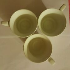 "JOHNSON BROTHERS ""HERITAGE"" CUP Set of 4 SOLID WHITE ENGLAND EXCELLENT"