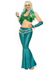 Fantasy Mermaid Costume Ariel Womens Green Bikini Top