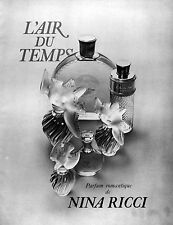 ▬► Publicité Perfume NINA RICCI L'Air du Temps Original French Print ad 1969