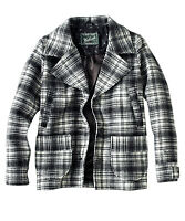 Women's Woolrich Peacoat NWT Wool Jacket List $210 Heritage Plaid Size L Large
