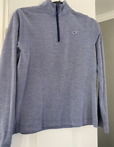 VINEYARD VINES Boys 1/4 Zip Longsleeve Pullover, Navy Blue, Size L (16)