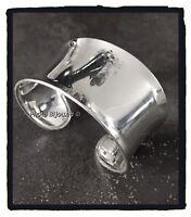Bracelet Jonc Manchette Large Argent Massif 925/1000 Rhodié  Bijoux Femme