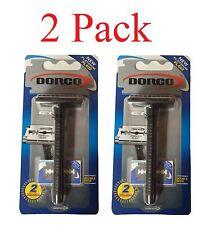 2 Pcak Safety Razor Double Edge Plastic W/2 Blades Platinum