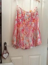 skirt size 10. debbie shuchat.SILK.summer.holiday.wedding.races.tea.garden.party