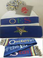 OES Matching Blue Knit Beanie and Scarf - Warm - Order of the Eastern Star