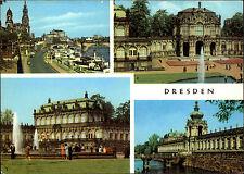 Dresden Sachsen DDR Mehrbild-AK ua. Dampfer Anlegestelle, Zwinger, Kronentor