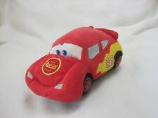 "DISNEY STORE PIXAR CARS LIGHTNING MCQUEEN PLUSH 8"" SOFT TOY SHAPED CAR"