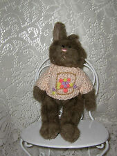 BROWN BUNNY RABBIT IN PINK EASTER BASKET SWEATER HUGFUN