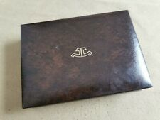 Jaeger-LeCoultre very rare vintage watch box brown leather for any models good