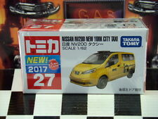 TOMICA #27 NISSAN NV200 NEW YORK CITY TAXI 1/62 SCALE NEW IN BOX