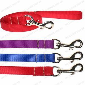 19mm Wide UK Nylon Material Dog Pet Collar Handle Lead W/Heavy Duty Trigger Hook