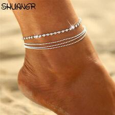 Crystal Rhinestone Bead Charm Drop Ankle Chain Bracelet Anklet Jewelry Cdn Sell