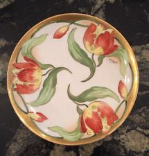 ANTIQUE Haviland Limoges Hand Painted Plate Artist Signed Duval