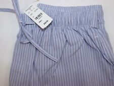 NWT BROOKS BROTHERS Small Men's Blue White Black Striped Cotton Lounge Pants