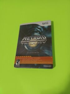 Metroid Prime Trilogy Collector's Edition (Nintendo Wii 2009) Steelbook Complete