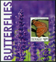Tuvalu Butterflies Stamps 2020 MNH Chocolate Argus Butterfly 1v S/S