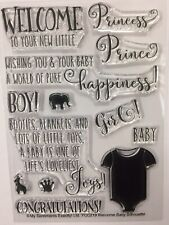 NEW BABY clear ink stamp set card craft stamping printing My Sentiments Exactly!