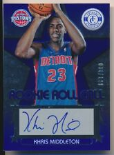KHRIS MIDDLETON 2012-13 Totally Certified ROOKIE ROLL CALL BLUE AUTO /129 BUCKS