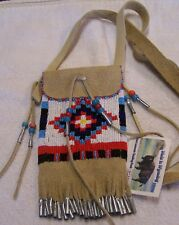 HAND MADE BEADED NECK POUCH RENDEZVOUS BLACK POWDER MOUNTAIN MAN 39