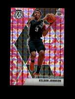2019-20 Panini Mosaic Pink Prizm Camo #238 Keldon Johnson RC Rookie (Spurs) MINT