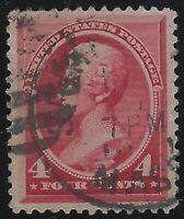 US Stamps - Scott # 215 - 4c Carmine Jackson                             (C-223)