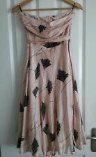 spotlight collection warehouse pink strapless silk dress size 10