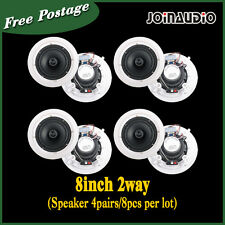 "4Pairs 8x40W  High Quality 8"" Ceiling PA Speaker 100V with transformer"