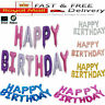 Happy Birthday Balloons Banner Balloon Bunting Party Decoration Inflating Decor.