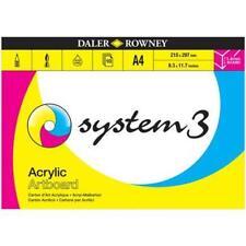 Daler Rowney System 3 Artboard Pad A4 10s
