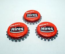 Set of 3 Vintage HIRES DRAFT ROOT BEER Unused Cork Lined Soda Bottle Caps Crowns