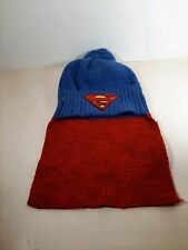 Superman Knit Beanie/Stocking Hat With Cape One Size Fits All