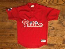 Philadelphia Phillies Majestic Sewn Logo Baseball Jersey Youth Medium Vintage