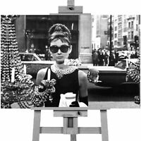 AUDREY HEPBURN SUNGLASSES-Icons Canvas Art Wall Print