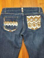 COOGI Womens   Vintage Embroidered Jeans SZ 15/16 X 31 Dark Blue Denim