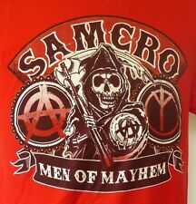Sons Of Anarchy SAMCRO Men of Mayhem Red S/S FX Network Show T-Shirt M