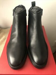 Hugo Boss Men Chelsea Boots Bohemian Zipb Grbl Black Sz 7 US$469