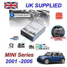 BMW MINI R5 MP3 USB SD CD AUX Ingresso Adattatore Audio Digital CD Changer modulo